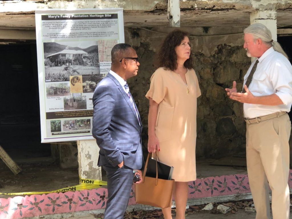 Dutch Minister of Education, Culture & Science pays visit to APS' Mary's Fancy Plantation project